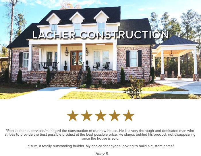 We revamped Lacher Construction's online presence so they could compete digitally in the Augusta, GA home building market